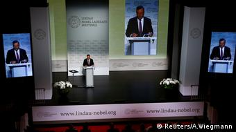 ECB President Draghi gives a speech during Lindau Nobel Laureate Meetings in Lindau (Reuters/A.Wiegmann)