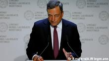 ECB President Draghi gives a speech during Lindau Nobel Laureate Meetings in Lindau