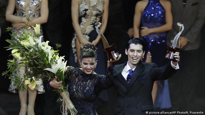 Argentinien Welt Tango Meisterschaft Finale | Axel Arakaki und Agostina Tarchini | Sieger (picture-alliance/AP Photo/N. Pisarenko)