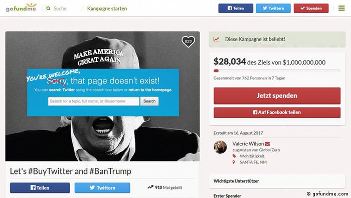 Campaign Let's #BuyTwitter and#BanTrump (gofundme.com)