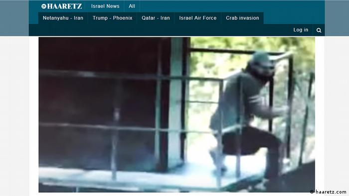 Screenshot haaretz.com Video zu Hisbollah-Kämper (haaretz.com)