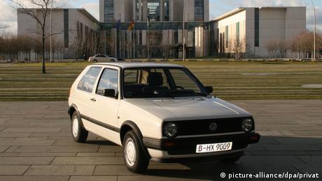 Deutschland VW-Golf Baujahr 1990 von Angela Merkel (picture-alliance/dpa/privat)