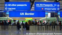 Großbritannien Grenzkontrolle