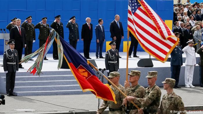 Військові США взяли участь у параді на Хрещатику до Дня незалежності України