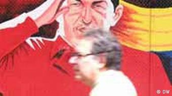 Altes Chavez - Poster: der Präsident ist allgegenwärtig