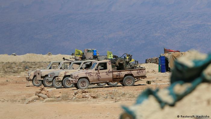 Libanon Hisbollah Fahrzeuge bei Jroud Arsal (Reuters/A. Hashisho)