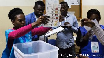 Angola Wahlen Stimmenauszählung