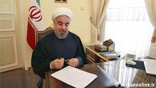 Titel: Präsident Hassan Rohani 7. Präsident der Islamischen Republik Iran, iranischer Politiker, Rohani, Rouhani, 12. Regierung Quelle: mizanonline.ir