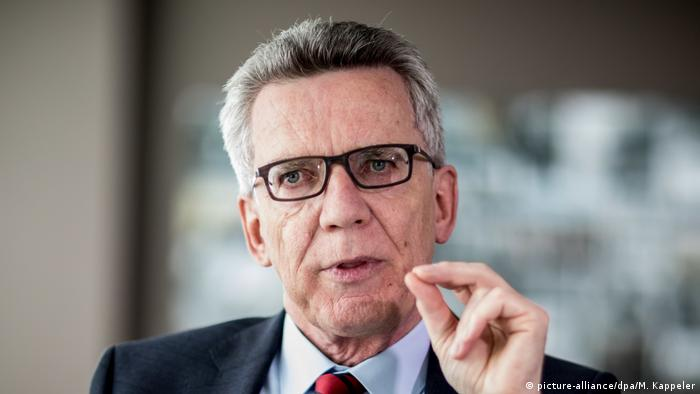 German Interior Minister Thomas de Maizière