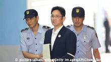 Samsung heir Lee Jae-yong on his way to jail in 2017