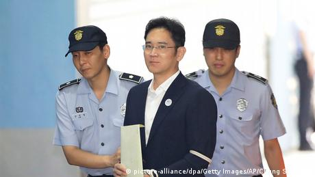 Samsung heir Lee Jae-yong on his way to jail in 2017