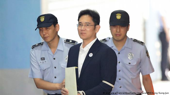 Südkorea Korruptionsprozess gegen Samsung-Erben Lee Jae Yong (picture-alliance/dpa/Getty Images/AP/Chung Sung-Jun)