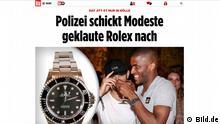 Screenshot - Bild.de - Modeste wird Uhr Nachtgeschickt