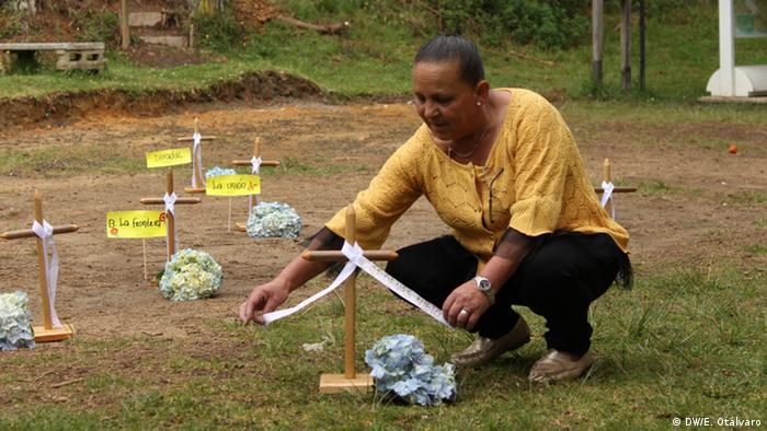 Kolumbien Gertrudis Nieto, Trauer um Sohn