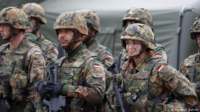 Bundeswehr soldiers stationed in Rukla, Lithuania