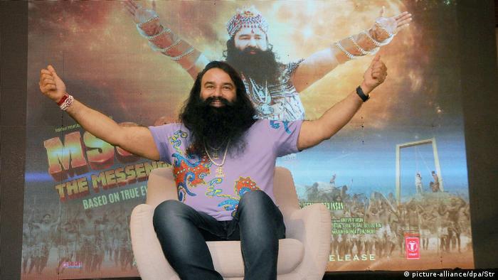 Indien - Guru und Religiöser Führer - Gurmeet Ram Rahim Singh Insan (picture-alliance/dpa/Str)