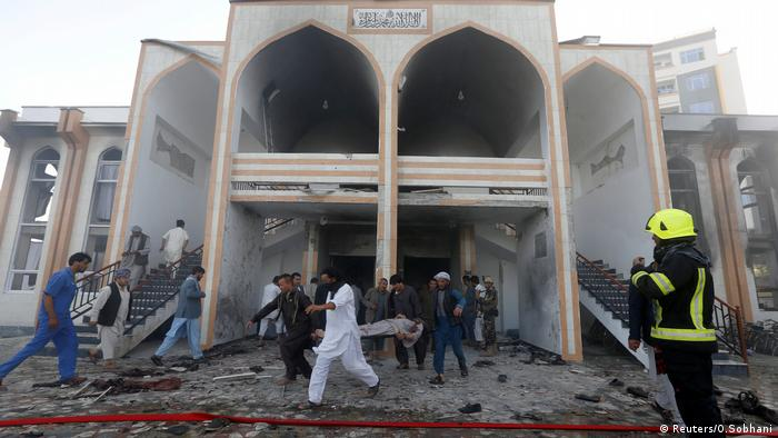 The scene of the attack in Kabul