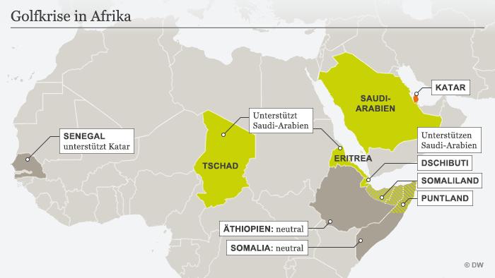 Infografik Golfkrise in Afrika DEU