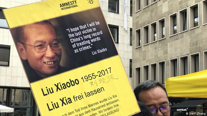 Köln Amnesty International Protest China-Fest Liu Xiaobo