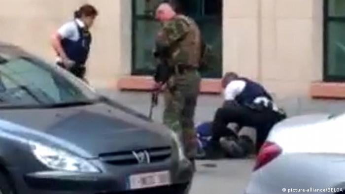 Brussels: machete attacker shot dead
