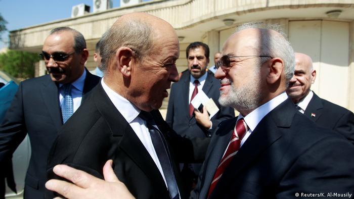 Irak Treffen Jean-Yves Le Drian und Ibrahim al-Jaafari (Reuters/K. Al-Mousily)
