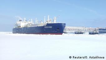 LNG tanker in Sabetta