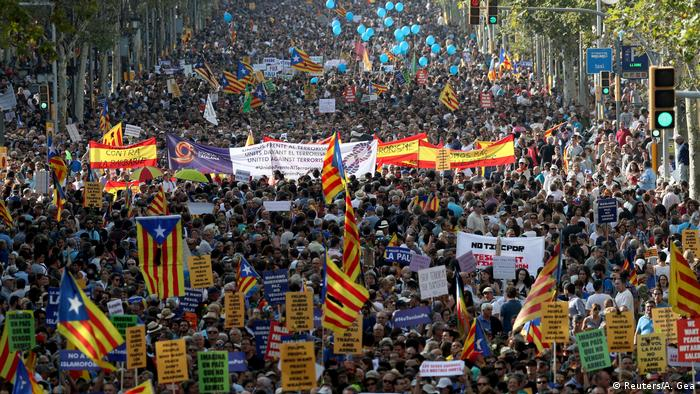 Spanien Barcelona Demonstration gegen Terror (Reuters/A. Gea)