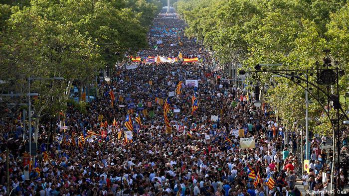 Barcelona Anti Terror Einheitsmarsch (Reuters/A. Gea)