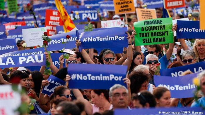 Barcelona Anti Terror Einheitsmarsch (Getty Images//AFP/P. Barrena)