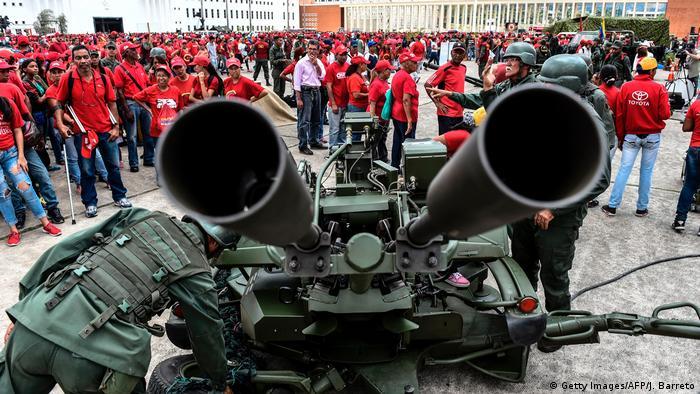 Venezuela Caracas Militärübung (Getty Images/AFP/J. Barreto)