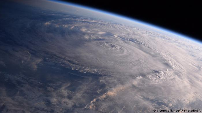 NASA photo showing Hurricane Harvey over Texas