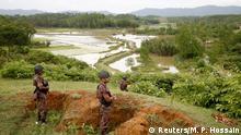 Myanmar Kämpfe Genzsoldaten in Bangladesch