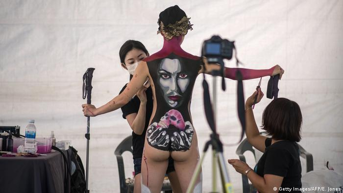 Südkorea International Bodypainting Festival in Daegu (Getty Images/AFP/E. Jones)
