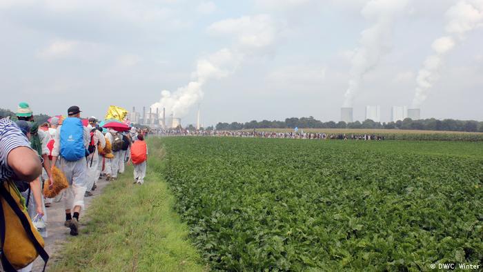 Deutschland Proteste von Braunkohlegegnern