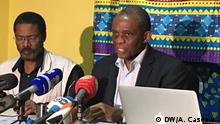 Titel: Press conference - Opposition in Angola talks about the elections results Was zu sehen ist: André Mendes de Carvalho, vice-president of CASA-CE party Wann und wo: Luanda, Angola / 27 of August 2017 Copyright: António Cascais - DW