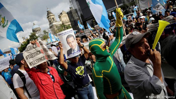 Protestas contra el presidente de Guatemala, Jimmy Morales.