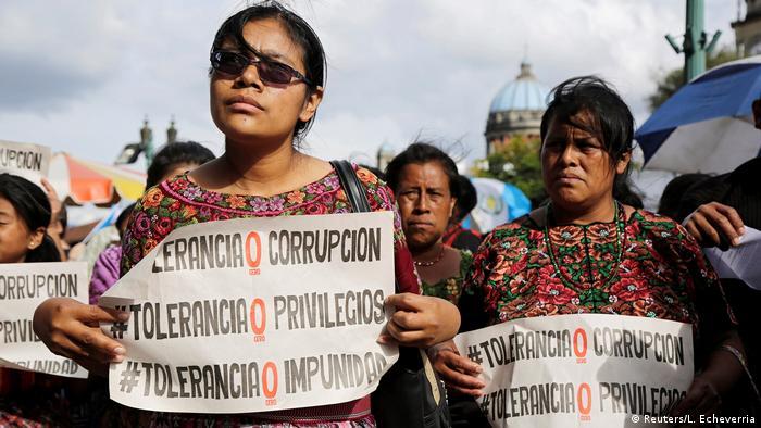 Guatemala Protest gegen Präsident Jimmy Morales