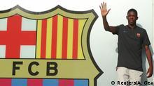 Barcelona Ankunft Dembele Camp Nou