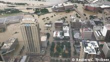 Flooded downtown is seen from JP Morgan Chase Tower after Hurricane Harvey inundated the Texas Gulf coast with rain causing widespread flooding, in Houston, Texas, U.S. August 27, 2017 in this picture obtained from social media. Mandatory credit: Christian Tycksen via REUTERS ATTENTION EDITORS - THIS IMAGE HAS BEEN SUPPLIED BY A THIRD PARTY. MANDATORY CREDIT. NO RESALES. NO ARCHIVES