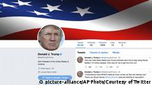 US-Präsident Donald trump Twitter (picture-alliance/AP Photo/Courtesy of Twitter)