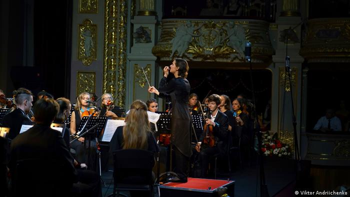 Lyniv performs with the youth orchestras in Lviv (Viktor Andriichenko)