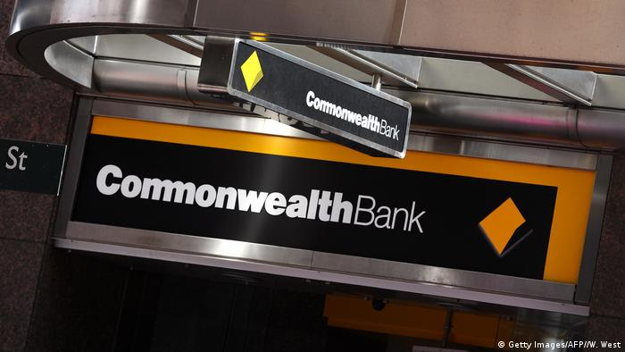 A Commonwealth Bank of Australia sign
