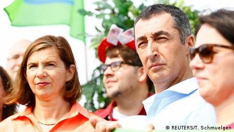 políticos alemães do partido Verde Katrin Goering-Eckardt e Cem Oezdemir