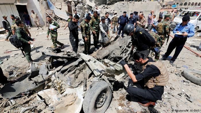 Irak | Autobombe in Bagdad detoniert (Reuters/W. Al-Okili)