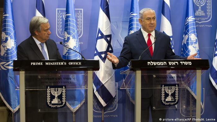 António Guterres e Benjamin Netanyahu