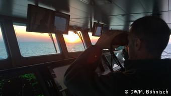 На борту патрульного катера пограничного агентства ЕС Frontex