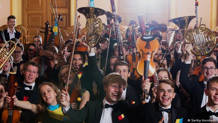 Музыканты молодежных оркестров Украины и Германии на совместной репетиции во Львове