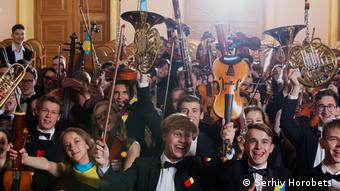 young musicians from Germany and Ukraine in Lviv (Serhiy Horobets )