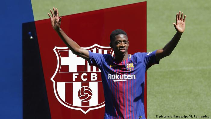 FC Barcelona Präsentation von Neuzugang Ousmane Dembele