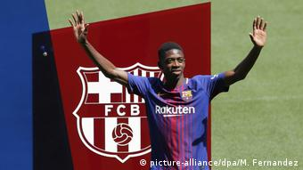 Ousmane Dembele's unveiling at Barcelona